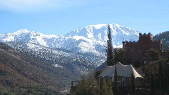 Looking back to the Atlas Mountains