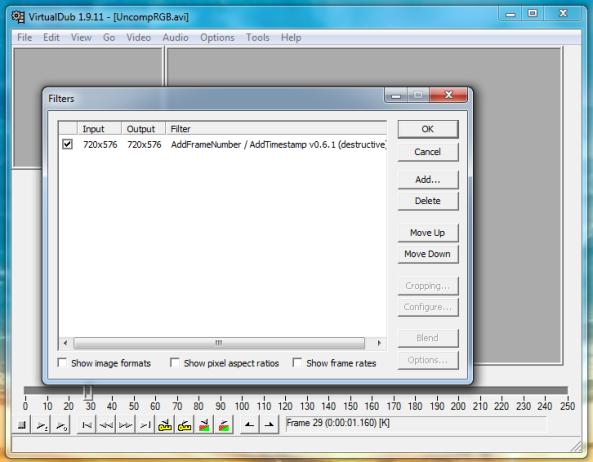 Vdub Filter – Add Timecode / Frame No | Spreadys.blog