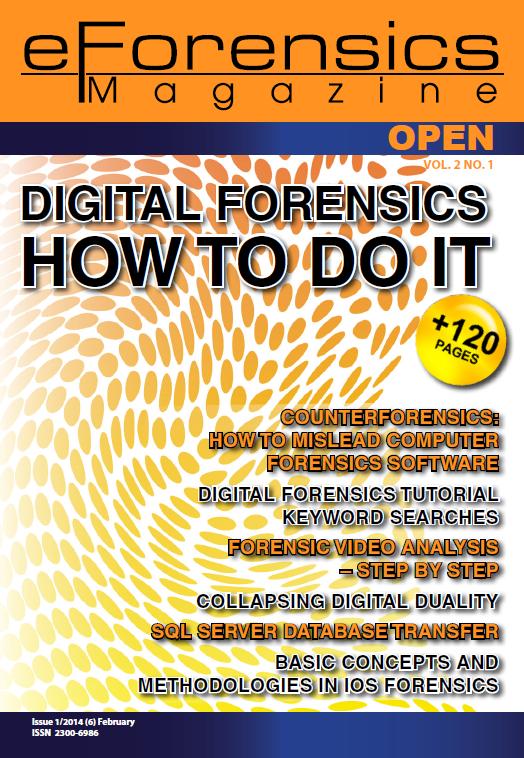 FFmpeg commands used within eForensics magazine article