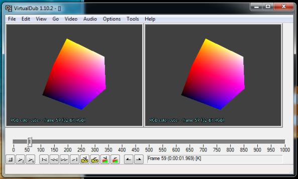 Creating the test video in Virtualdub