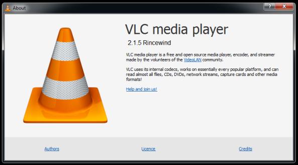 VLC Version information