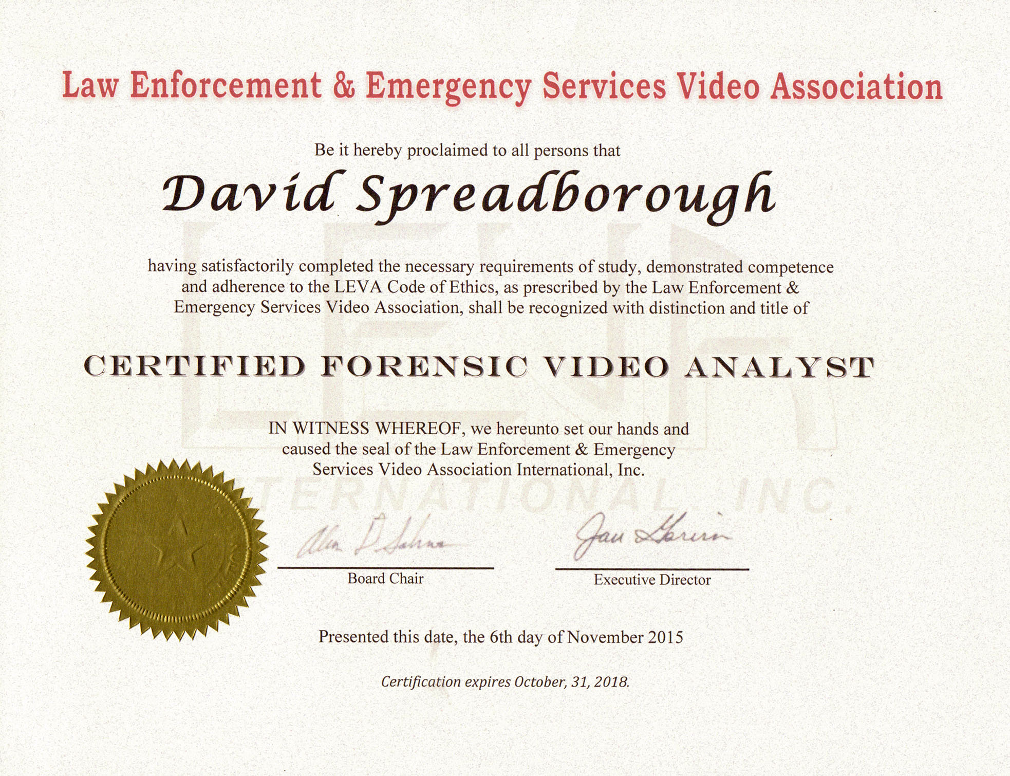 Certified Forensic Video Analyst | Spreadys.blog